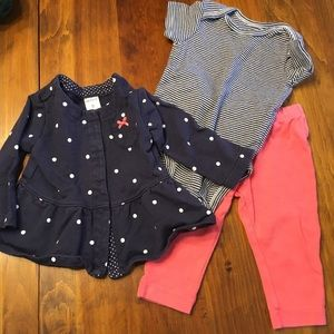 Carter's baby girl 6mo outfit